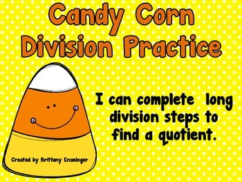 Long Division Practice {Candy Corn Themed}