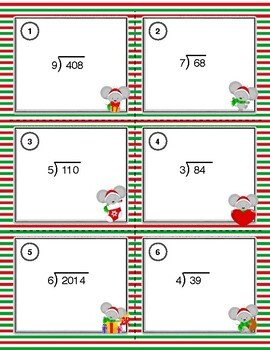 Long Division Practice Task Cards
