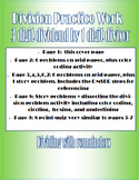 Long Division Practice Work- 3 digit dividend with 1 digit divisor