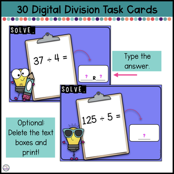 Long Division Practice for use with Google Apps
