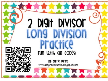 Long Division Practice with QR Codes