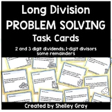 Long Division Problem Solving Task Cards: 2 and 3 by 1-dig
