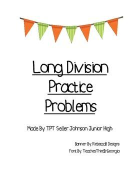 Long Division Problems