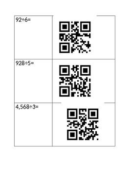 Long Division QR Code Activity