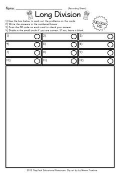 Long Division QR Code Fun