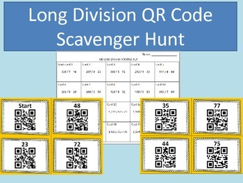 Long Division QR Code Scavenger Hunt