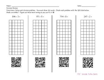 Long Division QR Codes