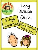 Long Division Quiz