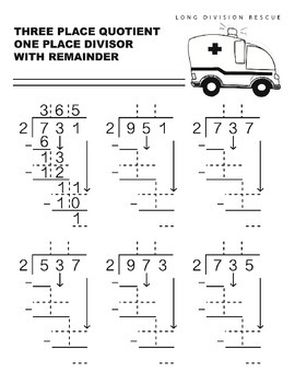 Long Division Rescue