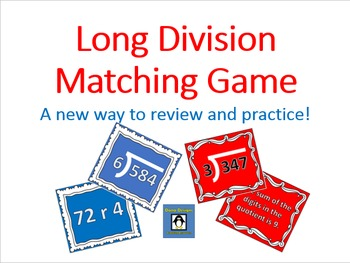Long Division Review Game