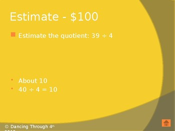 Long Division Review Jeopardy EnVisions Topic 9