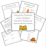 Long Division Review Stations ~ Pumpkin Theme for Fall/Halloween/Thanksgiving