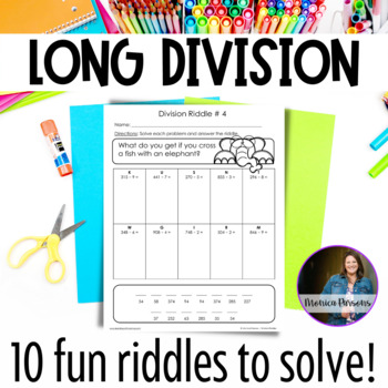 Long Division Worksheets - Fun Riddles! by Monica Parsons   TpT