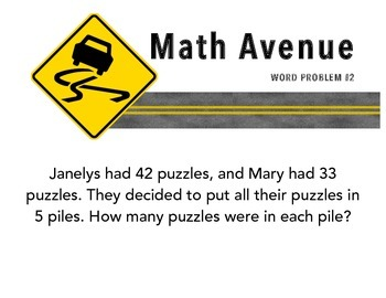 Long Division Road Trip - Word Problems