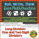 Long Division - Roll, Write, Think! - Dice Activity Math Skills Practice