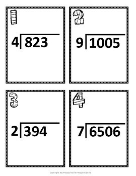 Long Division Scavenger Hunt: 20 Task Cards (Also great for Scoot!)