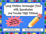 Long Division Scavenger Hunt Activity with Double Digit Divisors