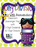 Long Division Scavenger Hunt with Remainders