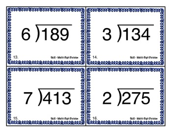 Long Division Scoot - Multi-Digit by 1 Digit Division