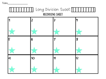 Long Division Scoot Task Cards