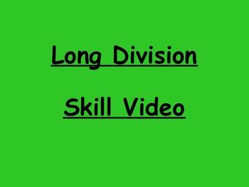 Long Division Skill Video