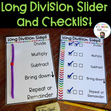 Long Division Slider and Checklist