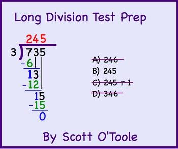 Long Division Smartboard Test Prep