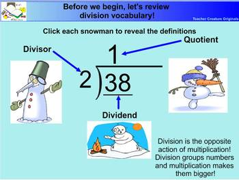 Long Division Snowman Style- Common Core Aligned
