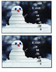 Long Division Snowmen Puzzles with Worksheet 4 digit by 1