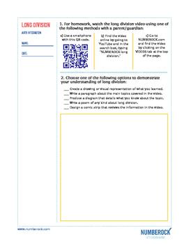 Long Division   FREE Poster, Worksheet, & Fun Video   4th-5th Grade