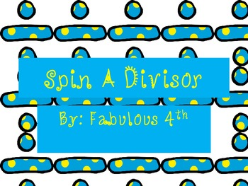 Long Division- Spin a Divisor