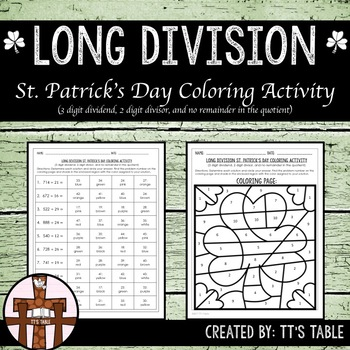Long Division St. Patrick's Day Coloring Activity (3)