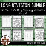 Long Division St. Patrick's Day Coloring Activity Bundle