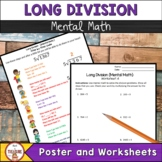 Long Division Step by Step Mental Math Poster