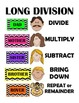 Long Division Steps, Posters, Handouts, Bookmarks
