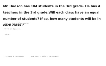Long Division Story Problem Powerpoint