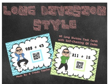 Long Division Style! - Task Cards with QR Codes