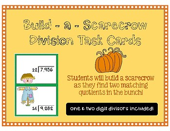 Long Division Task Cards ~ Fall-theme
