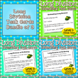 Long Division Task Card Centers Bundle of 3