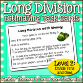 Long Division Task Card Centers Level 2