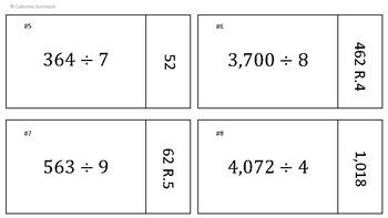 Long Division Task Card Puzzles