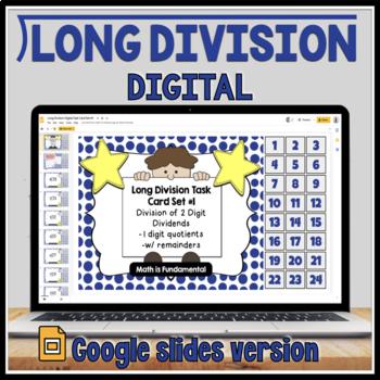 Long Division Task Card Set #1 - w/ unique answer code - 4/5.NBT.B.6