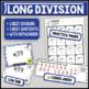 Long Division Task Card Set #1 - w/ unique answer code - 4