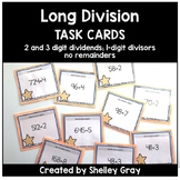 Long Division Task Cards: 2 and 3-digit by 1-digit, no remainders
