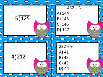 Long Division Task Cards