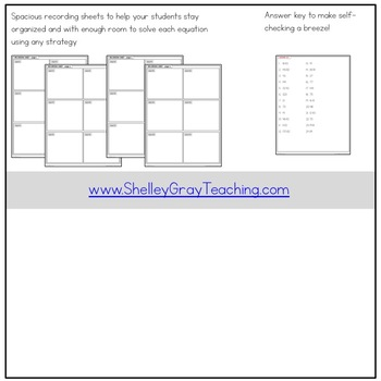 Long Division Task Cards: 4-digit by 1-digit, no remainders