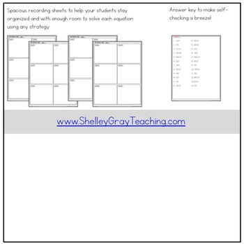 Long Division Task Cards: 4-digit by 1-digit, some remainders