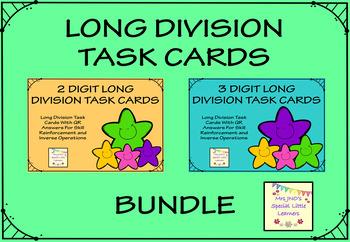 Long Division Task Cards Bundle