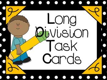 Long Division Task Cards:  CCSS Aligned 4.NBT.6, 5.NBT.6