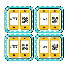 Long Division Task Cards FREEBIE - COMMON CORE ALIGNED 5.NBT.6 with QR Codes